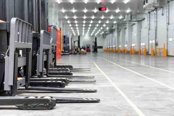 Leere Logistikflächen